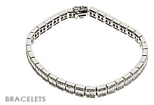 Fine Jewelry Bracelets, Diamond and White Gold
