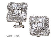 Fine Jewelry Earrings, Diamond and White Gold