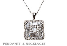 Fine Jewelry Pendants, Diamond and White Gold