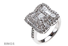 Fine Jewelry Rings, Diamond and White Gold