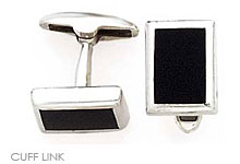 Mens Designs Cuff Links, Onyx Cuff Links