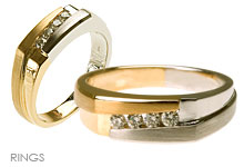 Rings, Mens Diamond and Gold Rings